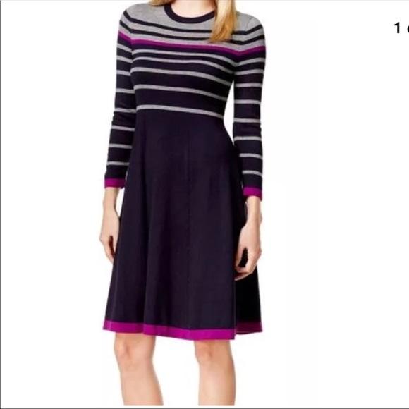 2fc496aa31a Jessica Howard Petite Colorblock Striped Dress PL